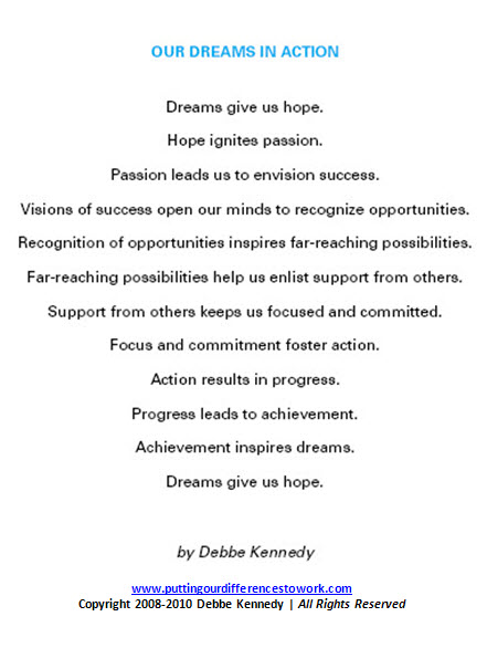 Dreams in Action-POEMbyDebbeKennedy