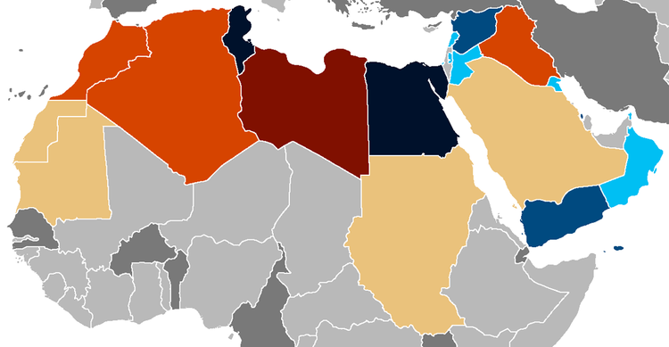 Arab Spring map courtesy of Wikipedia