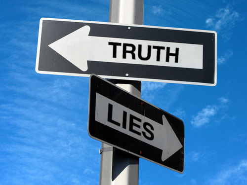 Truth or lies signs