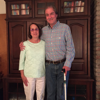 Bill and Kathy June 2017 standing in living room